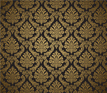 Damask Background Black And Gold