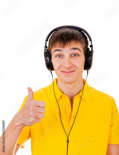 Photographie  Young Man in Headphones