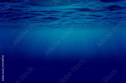 Fotografie, Obraz  Immersione subacquea sott'acqua in mare