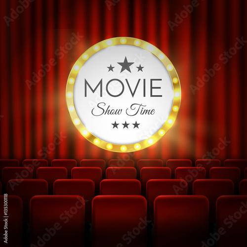 Photo  Movie cinema premiere poster design. Vector banner