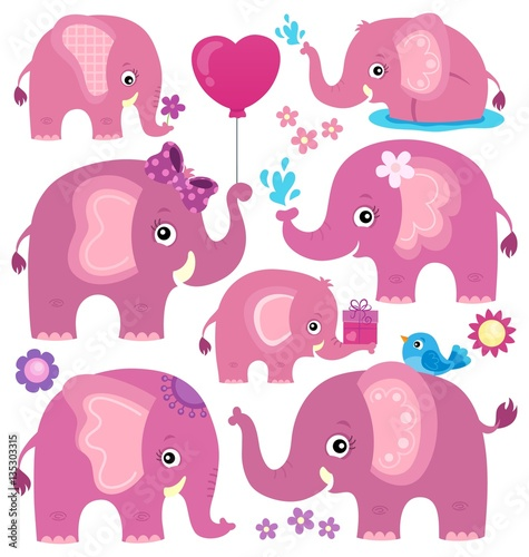 stylized-elephants-theme-set-3