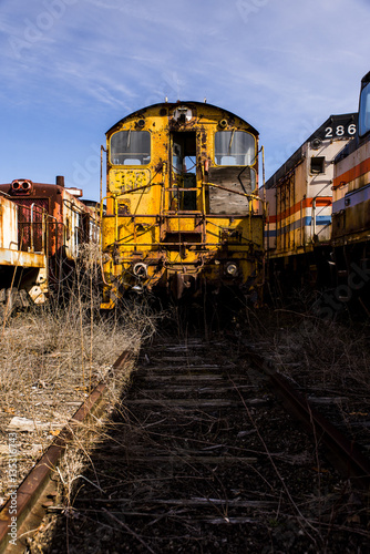 Abandoned Trains, Locomotive and Railroad - Ohio - Buy this stock