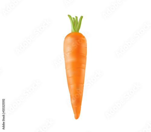 Leinwand Poster fresh carrot on white background