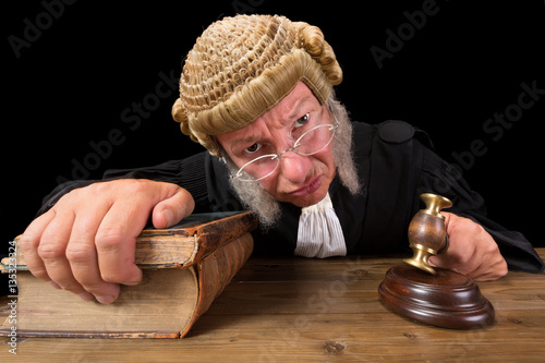 Fotografering  Angry Judge