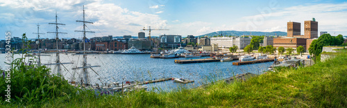 Oslo in the summer Canvas Print