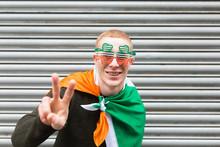 Young Irish Man Doing Victory ...