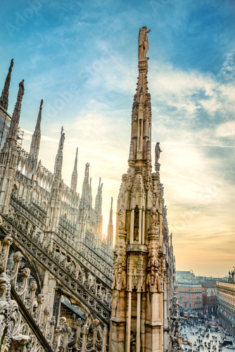 Fotografia View from the Milan Cathedral
