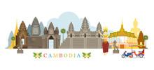 Cambodia Landmarks Skyline, Ci...