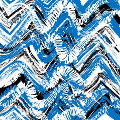 Fototapeta Marynistyczny grunge striped blue waves background