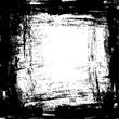 grunge black ink border frame background