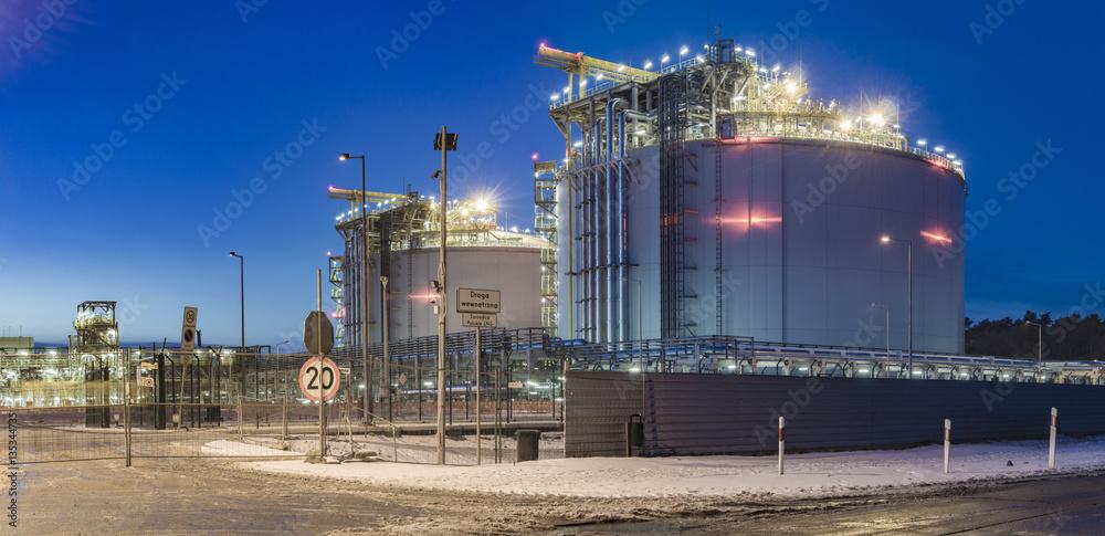 Fototapeta LNG terminal in Swinoujscie,Poland
