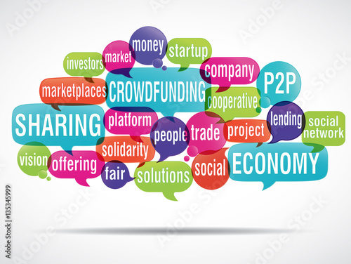 Fototapety, obrazy: word cloud : crowdfunding