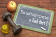 ecercise and bad diet concept