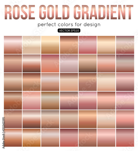 Rose gold gradient perfect colors for design. Vector ...