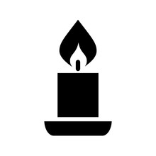 Candle Vector Silhouette Icon