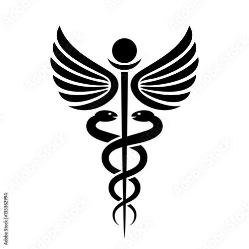 Fotografía  Ancient medical symbol caduceus