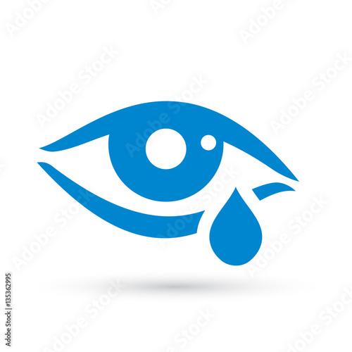 Fotografía  Crying woman eye tear icon