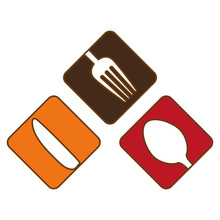 Colorful Cutlery Icon Image Design, Vector Illustration