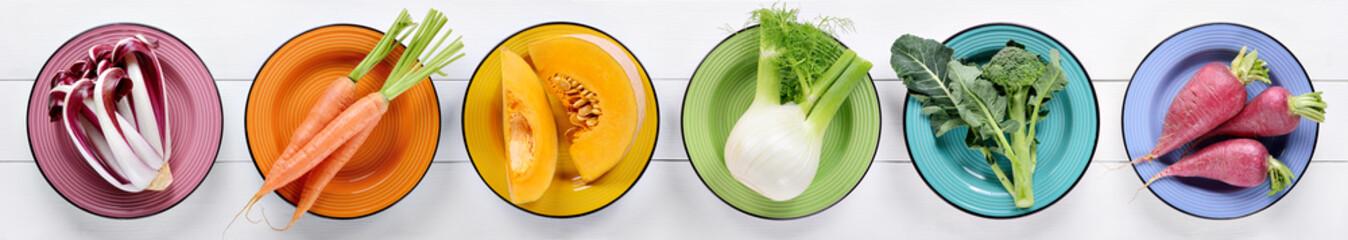 Kolekcija šarenog povrća