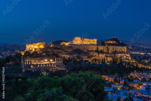 Printed kitchen splashbacks Athens view of the city at night, Athens, Greece
