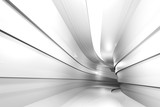 Fototapeta Perspektywa 3d - Abstract architectural geometric background with a tunnel going to perspective. 3d render