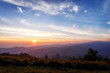 Sunrise landscape view from phu lom lo hill, Phetchabun province