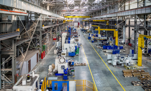the interior metal manufacturing the view from the top Wallpaper Mural