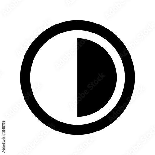 Obraz Brightness and contrast vector icon. - fototapety do salonu