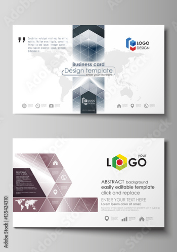 Business card templates easy editable layout vector design business card templates easy editable layout vector design template simple monochrome geometric pattern fbccfo Choice Image