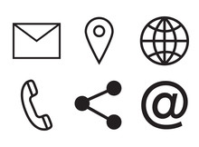 Various Vector Icons Of Communication