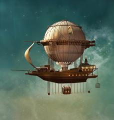 Fototapeta Niebo Steampunk fantasy airship