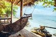 Hammock on the tropical beach