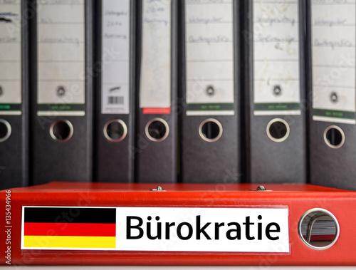 Fotografía  Aktenordner Bürokratie