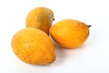 Canistel, Egg Fruit, Tiesa Fruit On White