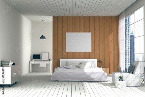 48D Rendering Illustration Of Big Spacious Bedroom In Soft Light New Big Bedrooms Model Interior