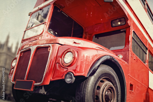 Photo  London Routemaster double decker red bus