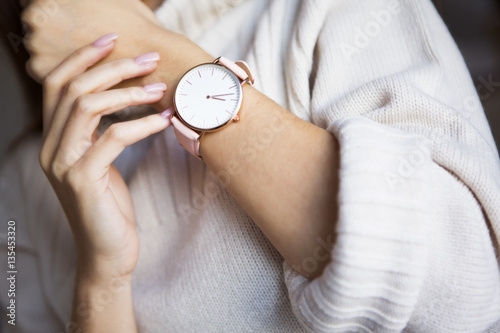 Watch on woman hand