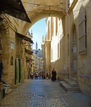 Street Via Dolarosa. Jerusalem...