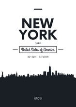 Poster City Skyline New York, ...