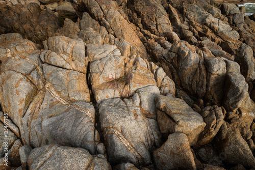 Keuken foto achterwand Schip background and texture of break granite stone at Banana Beach, P