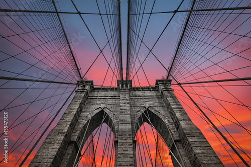 Photo  Brooklyn bridge in NYC, USA