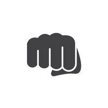 Fist, Forward Punch Icon Vecto...
