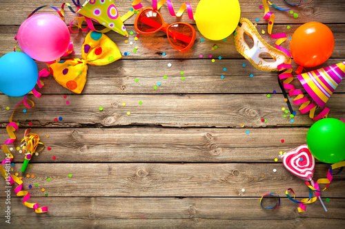 Spoed Fotobehang Carnaval Colorful birthday or carnival background