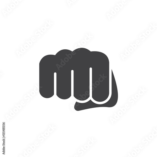 Fotografiet Fist, forward punch icon vector, filled flat sign, solid pictogram isolated on white