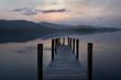 Ashness landing stage Derwent Water sunset