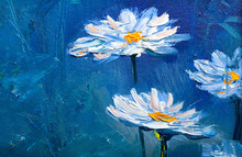 Oil Painting Daisy Flowers