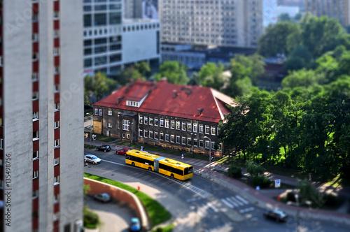 Katowice z lotu ptaka - tilf shift (blokowisko) - 135498756