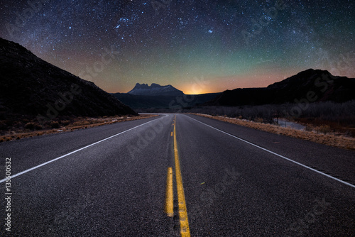 Acrylic Prints Night highway Hurricane, Utah