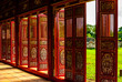Red doors in Hue Forbidden city