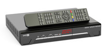 Digital Satellite Receiver With Remote Control, 3D Rendering
